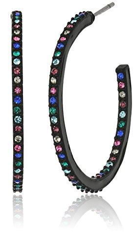 kate-spade-new-york-Enamel-Hoops-Black-Multi-Hoop-Earrings