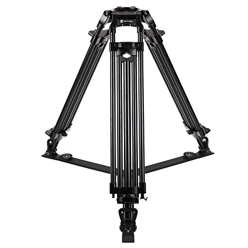 Sirui BCT-3003 3-Section Aluminum Video Broadcast Tripod, 40 Lbs Capacity, 63'' Max Height by Sirui