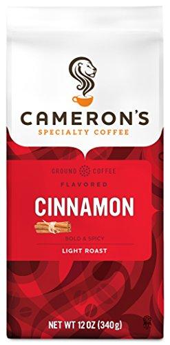 Cameron's Coffee Roasted Ground Coffee Bag, Flavored, Cinnamon, 12 Ounce - Cinnamon Roasted Coffee