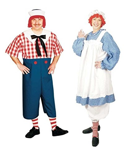 Raggedy Andy and Raggedy Ann Plus Size Couples Costumes by Wonder Costumes
