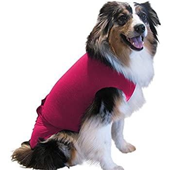 Surgi~Snuggly 1 Small Pink Dog Cone Collar Soft Suit, The Original E Collar Alternative, Antimicrobial Protects Your Pet's Wounds & Bandages - Ease Your Pets Anxiety, Plus Easy On and Easy Off - EC