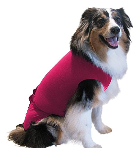 Surgi Snuggly 1 Medium Long Pink, We Invented The Original E Collar Alternative, Protects Your Pet's Wounds & Bandages - Ease Your Pets Anxiety - Plus It's Easy On and Easy Off - EC ()