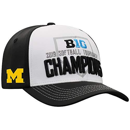 Elite Fan Shop Michigan Wolverines Big 10 Softball Champs Hat 2019 Locker Room - Adjustable - Black