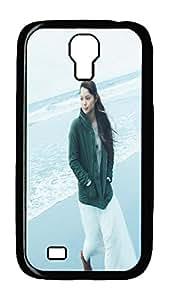 Samsung Galaxy S4 Case,Customize Ultra Slim Beach Girl Hard Plastic PC Blcak Case Bumper Cover for S4