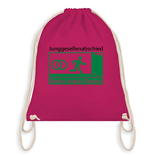 Shirtracer JGA Junggesellenabschied - Meine letzte Chance - Turnbeutel I Gym Bag Fuchsia