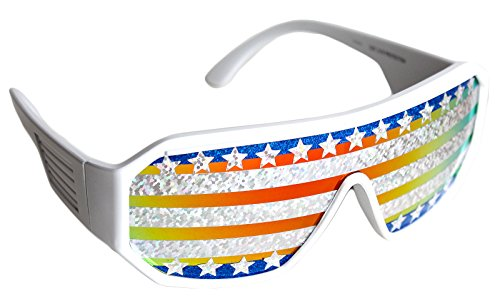 Rasslor Stars and Stripes Shield - Sunglasses Randy Savage