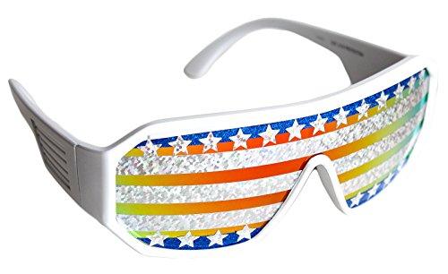 Rasslor Stars and Stripes Shield - Sunglasses Lenses Holographic