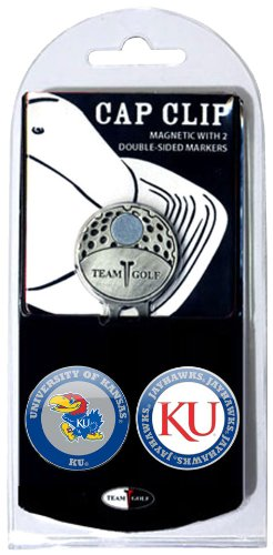 - Team Golf NCAA Kansas Jayhawks Golf Cap Clip with 2 Removable Double-Sided Enamel Magnetic Ball Markers, Attaches Easily to Hats