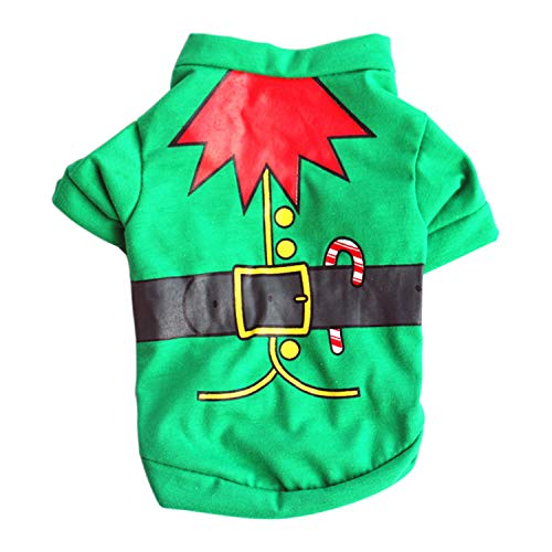 XS/S/M/L Pet Dog Clothes Christmas Costume Cute Cartoon Clothes for Small Dog Cloth Costume Dress Xmas Ap