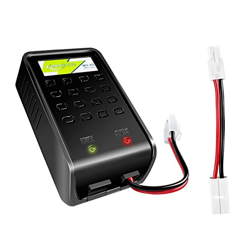 NIMH battery charger,Keenstone 1A Fast Charger w/Mini Tamiya Connector and Standard Tamiya Adapter Perfect for 1-8s Compatible with Airsoft Packs and 1.2V 2.4V 3.6V 4.8V 6V 7.2V 8.4V 9.6V packs