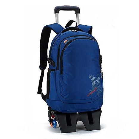 Últimas MinegRong tall base de 6 ruedas desmontable Mochila escolar los niños bolsas impermeables Chico Chica Niños Trolley mochilas escolares reservar ...