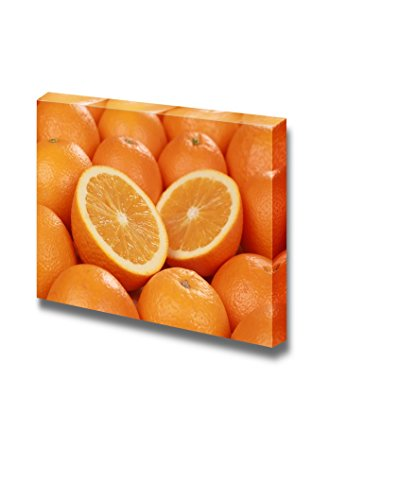 Still Life Closeup of Sliced Fresh Oranges Fruits Photograph Wall Decor