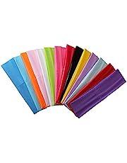 Zapire 14pcs Mixed Colors Yoga Sports Headbands for Women - Soft Elastic Stretch Girls Athletic Headbands