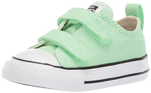 Converse Baby Infant Chuck Taylor All Star 2V Seasonal 2019 Low Top Sneaker, Lt. Aphid Green, 10 M US Toddler
