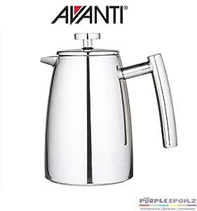 Avanti Modena Twin-Wall Coffee Plunger, Silver, 15785