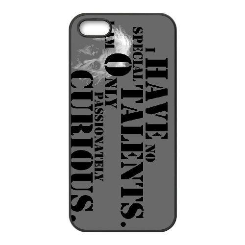 S4D12 citation d'Einstein X1X4NO coque iPhone 5 5s cellule de cas de téléphone couvercle coque noire RT8CFJ5SJ