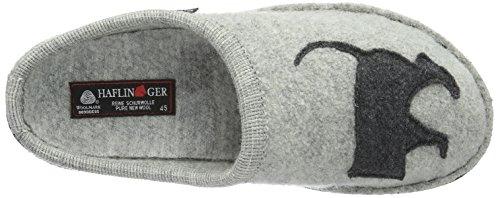 Haflinger Dackel Unisex-Erwachsene Flache Hausschuhe Grau (Steingraumeliert 84)