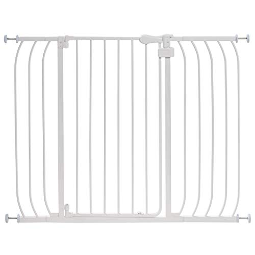 Summer Infant Multi-Use Extra Tall Walk-Thru Baby Gate, White (Black Buck Operation)
