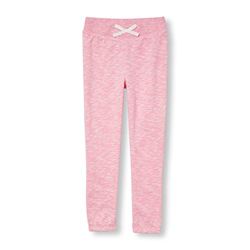 The Children's Place Little Girls' Active Pants, Heathered Pink 75321 French Terry, XS (4)