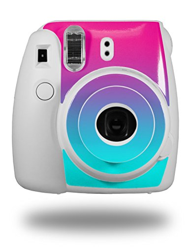 WraptorSkinz Skin Decal Wrap for Fujifilm Instax Mini 8 Camera Smooth Fades Neon Teal Hot Pink (CAMERA NOT ()