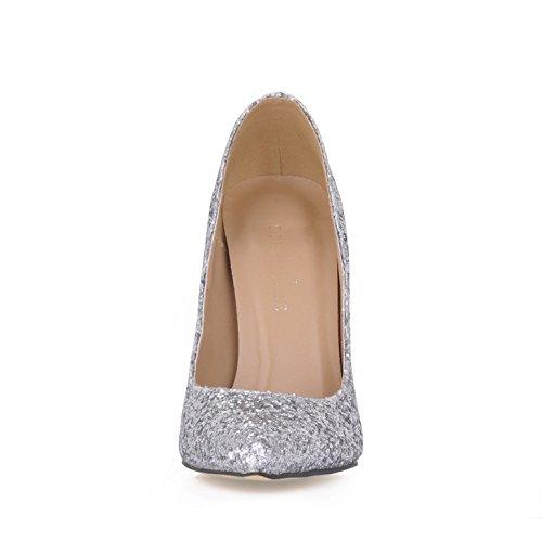 chaussures haut Cliquez chaussures mariage silver femme argent talon fine automne Silver chaussures mariée nouvelles à femmes grande point xqHOwxUZr