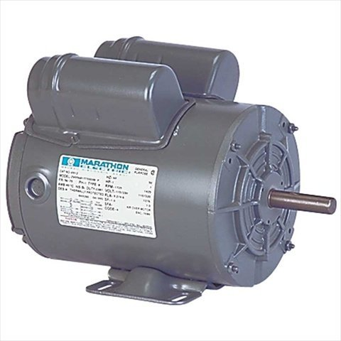 - Marathon X912 56 Frame Totally Enclosed 56B17T5303 Farm Duty Belt Drive Motor, 1 hp, 1725 RPM, 115/230 VAC, 1 Phase, 1 Speed, Ball Bearing, Capacitor Start/Capacitor Run, Rigid Base
