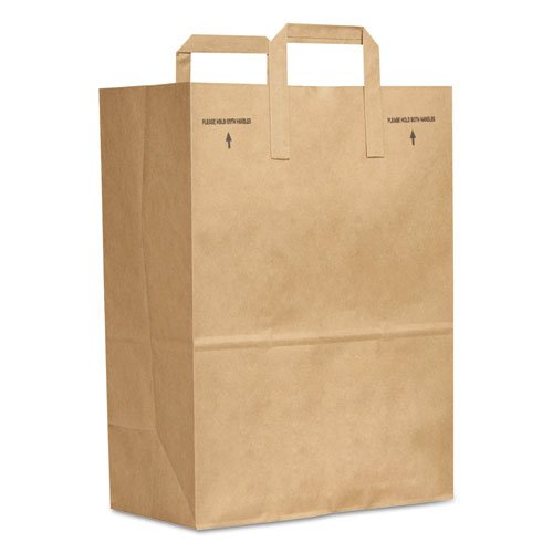 E-Z Tote Handle Sack 300-Bundle 1//6 BBL 70# Brown Paper Bag