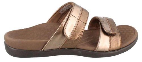 Vionic Women's Orthaheel Technology Women's Shore Slide,  Bronze, 8 B(M) US