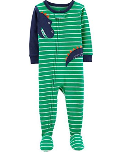Carter's Little Boys' Toddler 1-Piece Footed Pajamas - Green/Navy, 2t]()