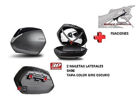 SHAD fijacion + maletas lat. tapa negro metal SH36 KAWASAKI VERSYS 1000 15-17: Amazon.es: Coche y moto