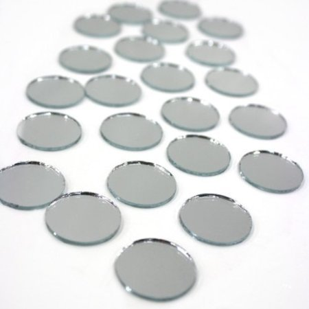 Mirror Round 1 Inch (50 Pcs) (Mirror Ornament)
