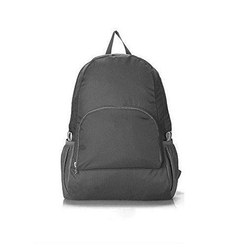 Lightweight Waterproof Foldaway Nylon Bag, Outdoor Recreation Skinbags, Folding Travel Backpack and Storage Bag, Black by Generic