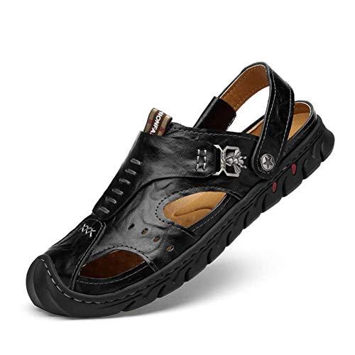 Casual Da Da Pelle Per Calzature Baotou Uomo In Spiaggia Black Sandals Trekking Slipper Sconosciuto 42 Da fapwY