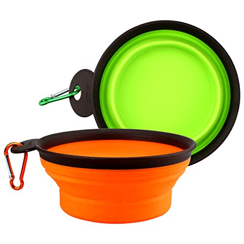 Warning Large Mug (Collapsible Dogs Bowl, Feed Food Water Cup Dish, Food Silicone, Foldable Portable Travel Bowls for Pet (Large))