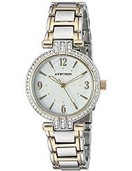 Armitron Womens 75/5377MPTT Swarovski Crystal Accented Two-Tone Bracelet Watch