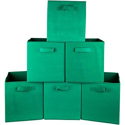 UPC 600686965602, Premium Storage Cube - Fabric Basket Bins - Organize Your Closet, Bedroom & Nursery (Green Set of 6)