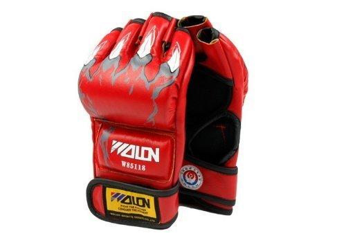 ABC Boxing Gloves, Half Finger Kickboxing Training Gloves,Grappling Gloves,Punching Bag Mitts, Fight Gloves for Men…