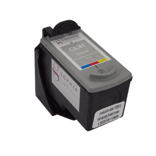 Sophia Global Remanufactured Ink Cartridge Replacement for Canon CL-41 with Ink Level Display (1 Color)