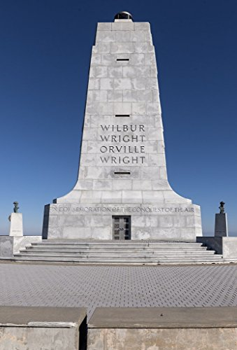 Brothers Flight First Memorial Wright (Photograph| The Wright Brothers National Memorial in Kill Devil Hills, North Carolina commemorates Wilbur and Orville Wright's famed first flight in a heavier-than-air machine 44in x 66in)