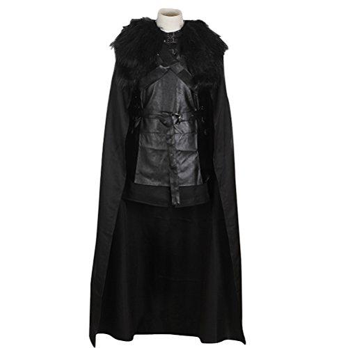 Halloween Costume Adult Men, Hero Cosplay Battle Uniform Full Set Cloak Black (Best Halloween Costumes 2017 For Adults)