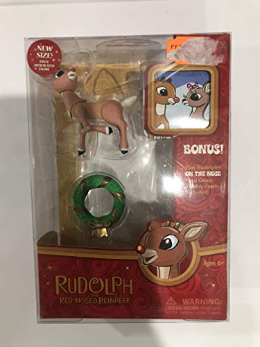Rudolph the Red Nosed Reindeer Santa Claus 2011 Poseable Holiday Figure (Poseable Rudolph Reindeer)