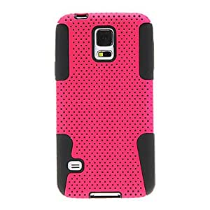 JJEDual Layer Mesh Hard Case for Samsung Galaxy S5/i9600 (Assorted Color)