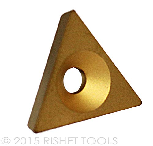 Box of 10 RISHET TOOLS 11414 TPGB 322 C2 Multi Layer TIN Coated Solid Carbide Inserts