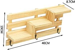Amgend Estante Para Baño De Madera Escalera De Almacenamiento Estante Montado En La Pared Estantería Escalera Bastidores Accesorios De Baño Decoración De La Pared: Amazon.es: Bricolaje y herramientas