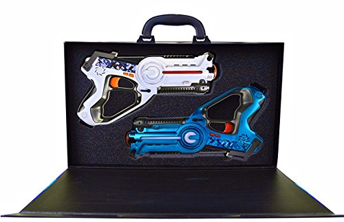 Legacy Toys Laser Tag Set for Kids (2 Pack) and Carrying Case (Laser Blaster)