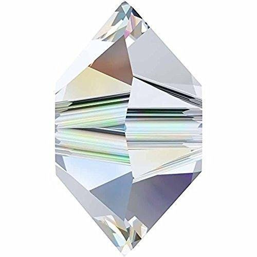 Swarovski Spacer - 5305 Swarovski Crystal Beads Spacer | Crystal AB | 6mm - Pack of 25 | Small & Wholesale Packs