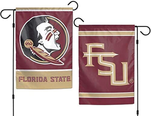WinCraft NCAA Florida State University 12x18 Inch 2-Sided Outdoor Garden Flag Banner