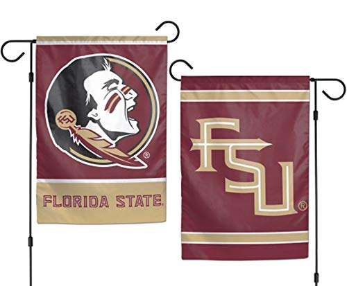 (WinCraft NCAA Florida State University 12x18 Inch 2-Sided Outdoor Garden Flag Banner)
