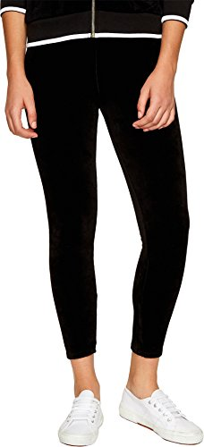 Juicy Couture Women's Stretch Velour Rodeo Drive Leggings Pitch Black Pants ()