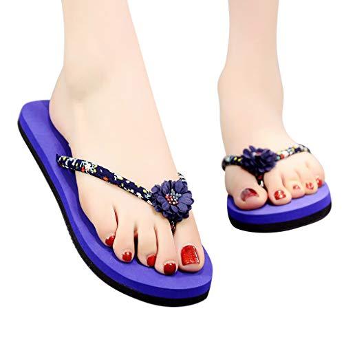 Mujeres Para Azul Blandas Bohemias Flip Sandalias Flops De 2019 Chanclas Piscina Antideslizante Baño Verano Mujer zxFzd